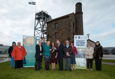 Community Action Award Presentation at Heartlands