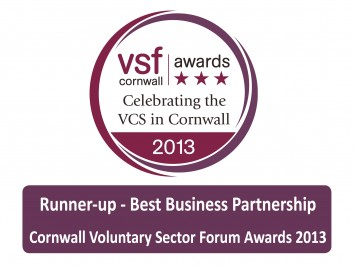 Cornwall Voluntary Sector Forum Award, Runner-Up 2013